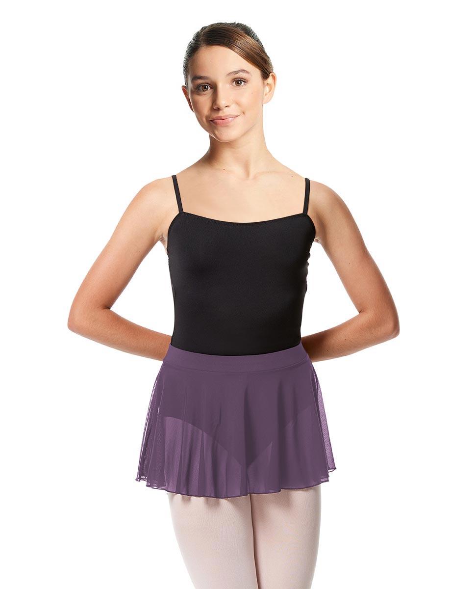 Girls Mesh Skirt Hania with Wide Elastic Waist Band LAV
