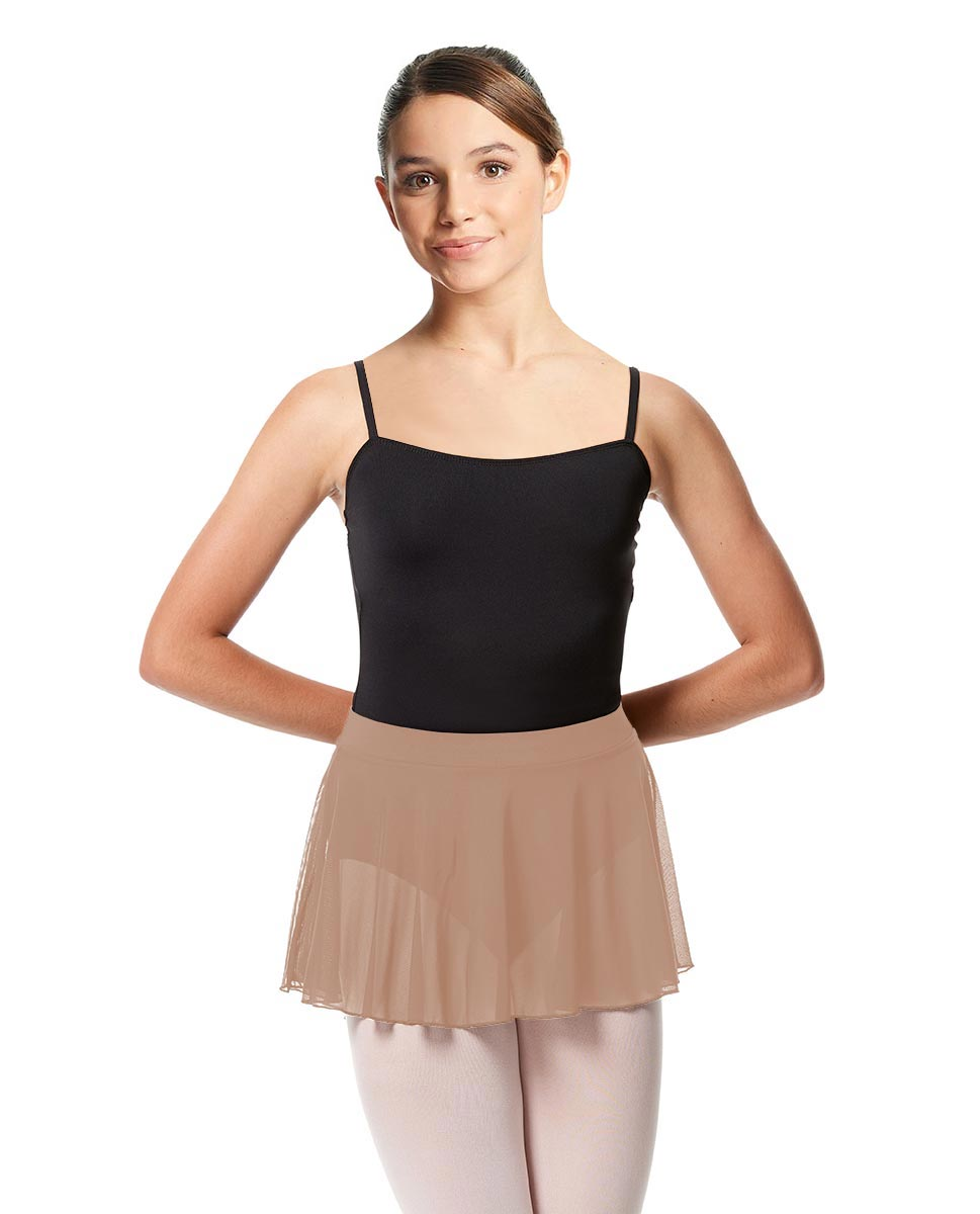 Girls Mesh Skirt Hania with Wide Elastic Waist Band NUD