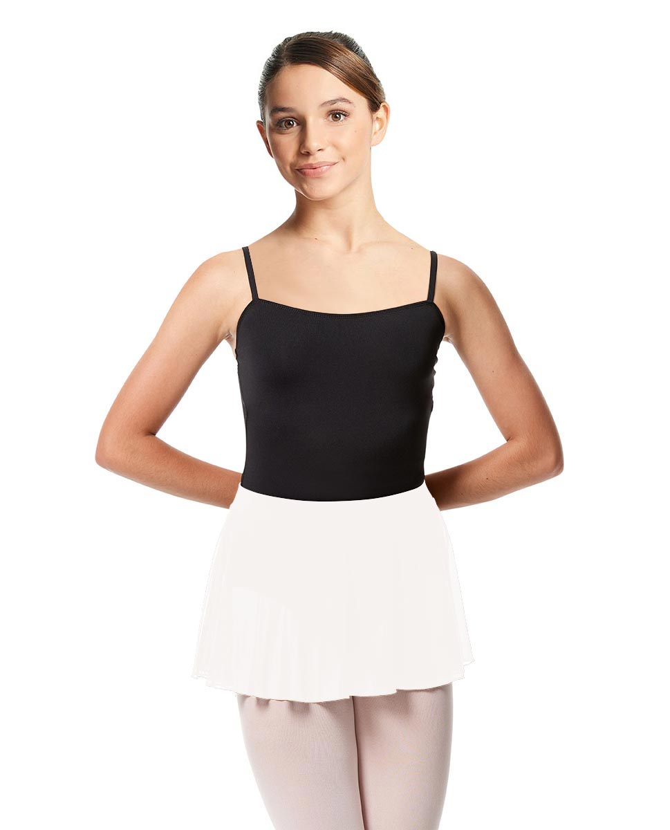 Girls Mesh Skirt Hania with Wide Elastic Waist Band WHI