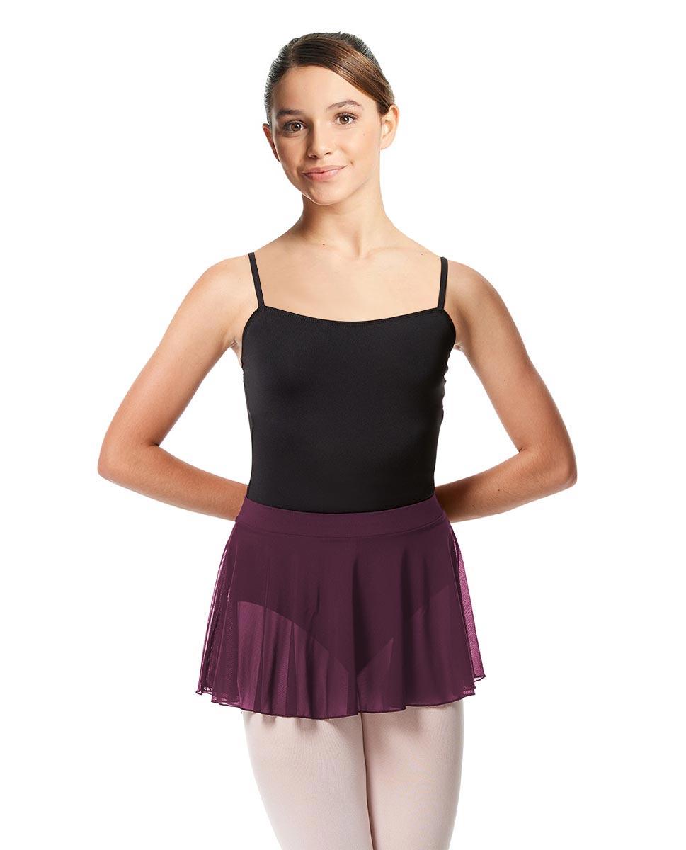 Girls Mesh Skirt Hania with Wide Elastic Waist Band WINE