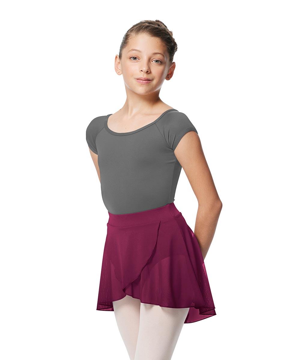 Child Pull on Wrap Dance Skirt Natasha WINE