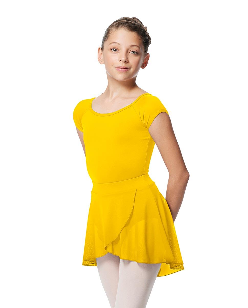 Child Pull on Wrap Dance Skirt Natasha YEL