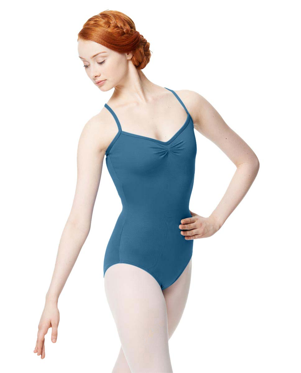 Adult Microfiber Pinched Front Camisole Leotard Alair BLUE