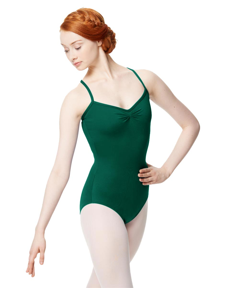 Adult Microfiber Pinched Front Camisole Leotard Alair DGREEN