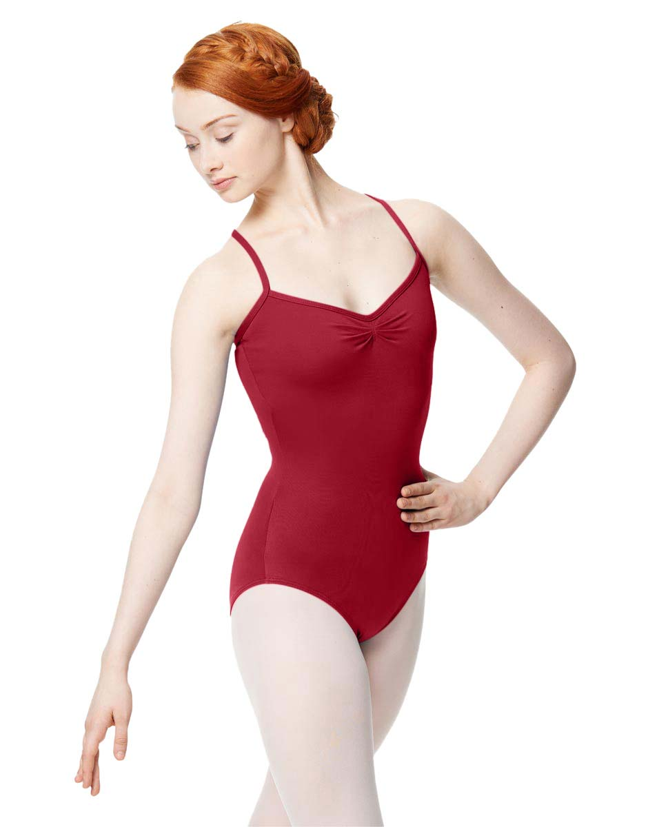 Adult Microfiber Pinched Front Camisole Leotard Alair DRED