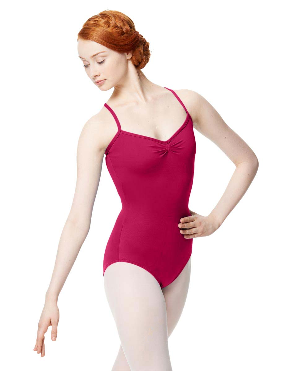 Adult Microfiber Pinched Front Camisole Leotard Alair FUC