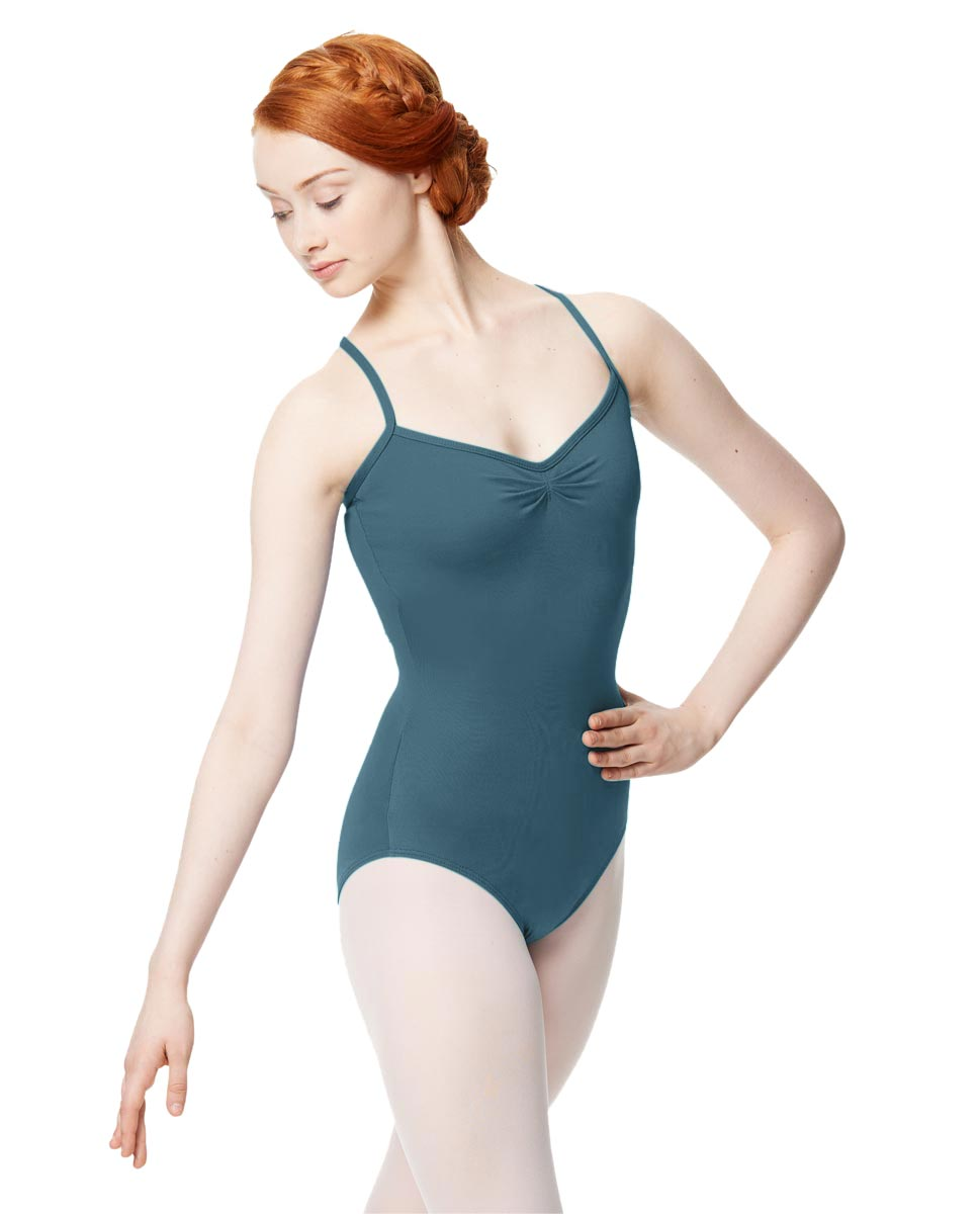 Adult Microfiber Pinched Front Camisole Leotard Alair JEANS