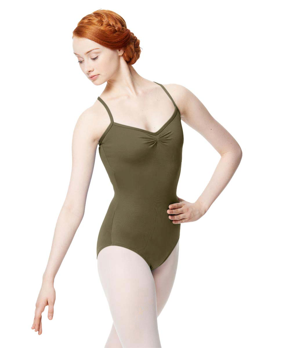 Adult Microfiber Pinched Front Camisole Leotard Alair KHA