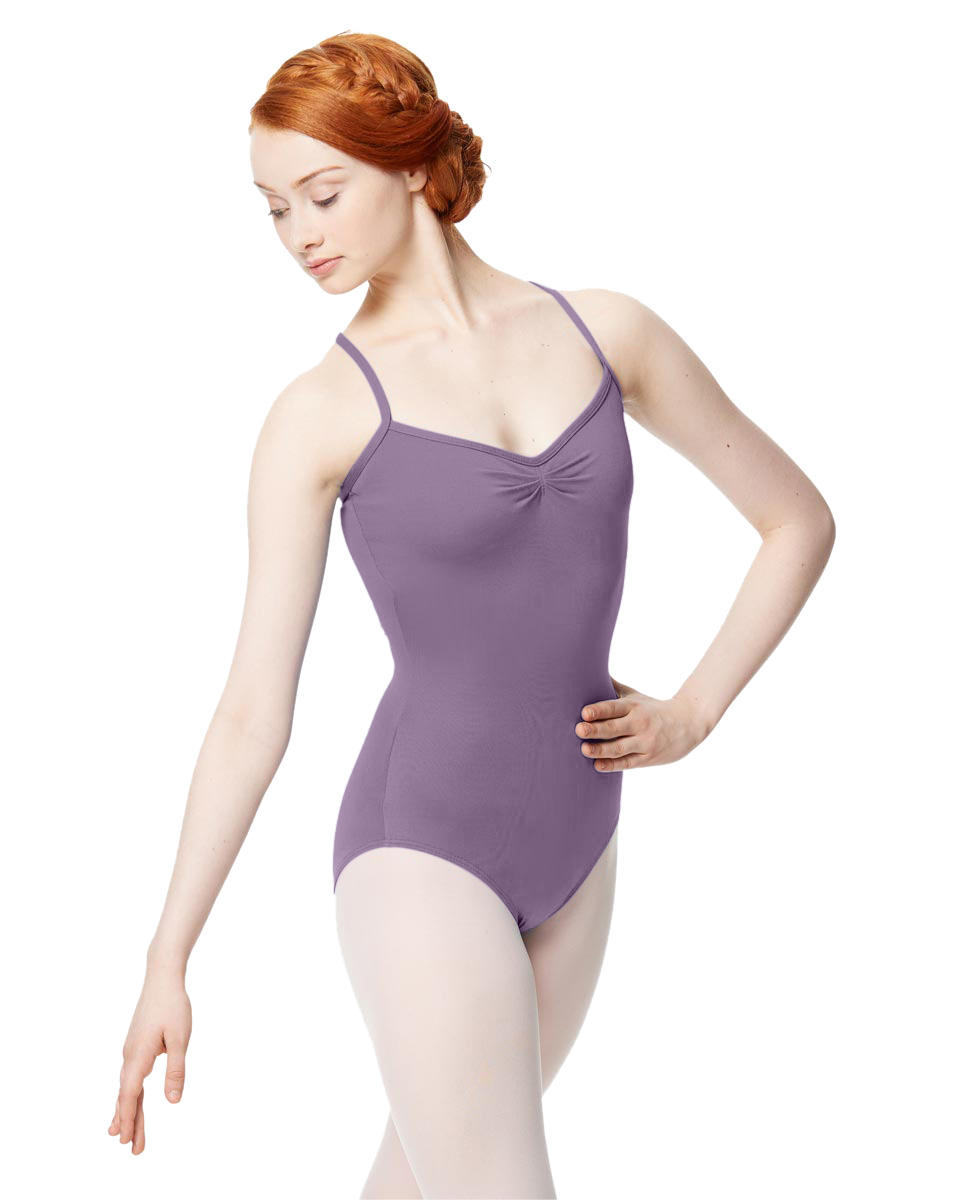 Adult Microfiber Pinched Front Camisole Leotard Alair LAV