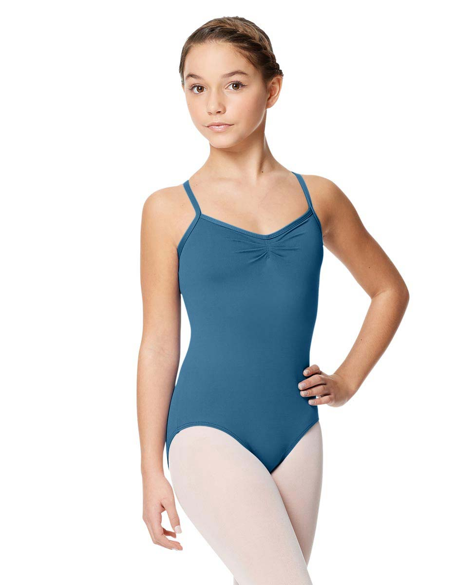 Child Microfiber Pinched Front Camisole Leotard Alair BLUE