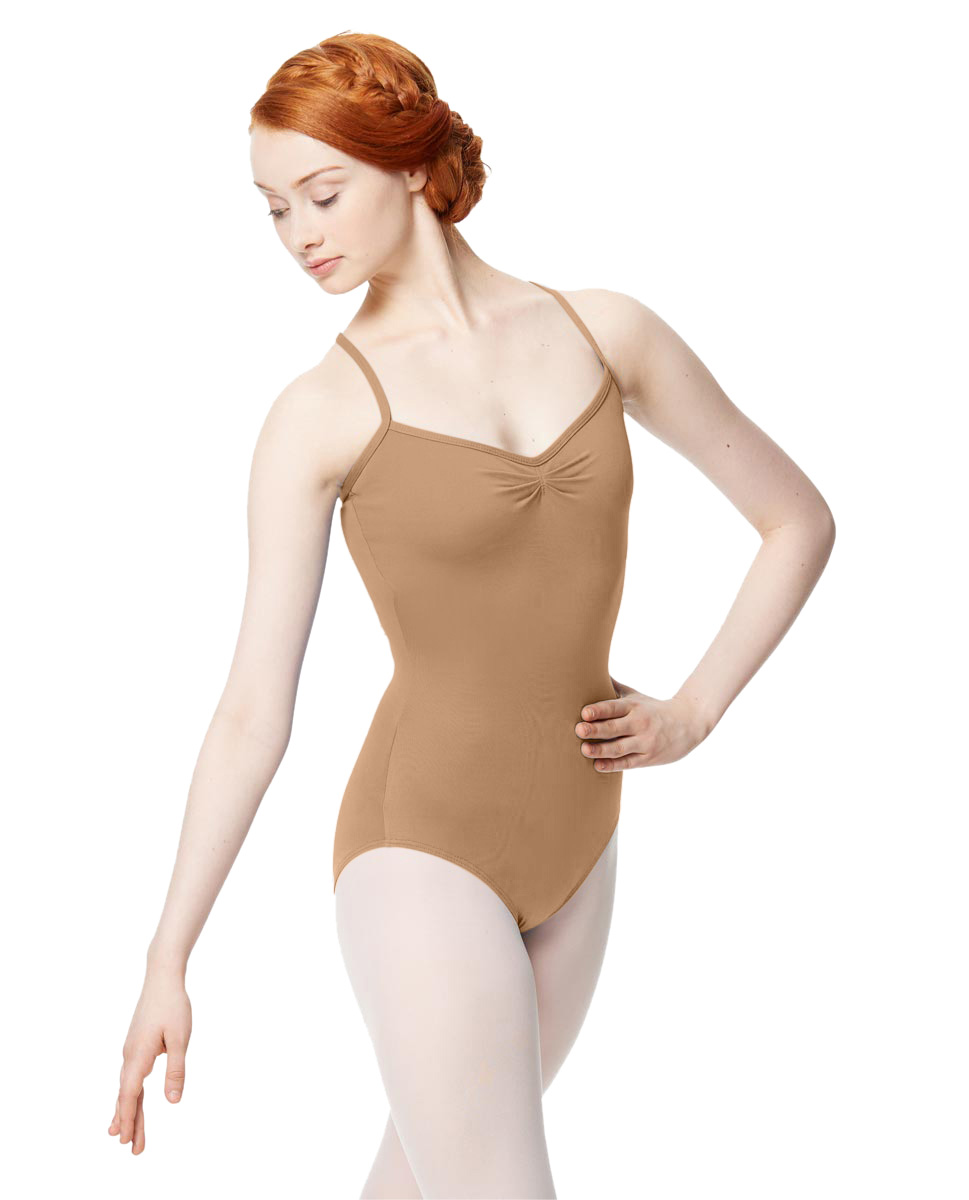 Adult Microfiber Pinched Front Camisole Leotard Alair NUD