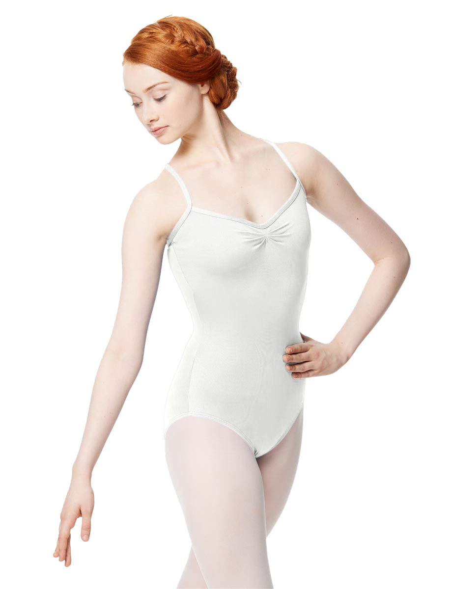 Adult Microfiber Pinched Front Camisole Leotard Alair WHI
