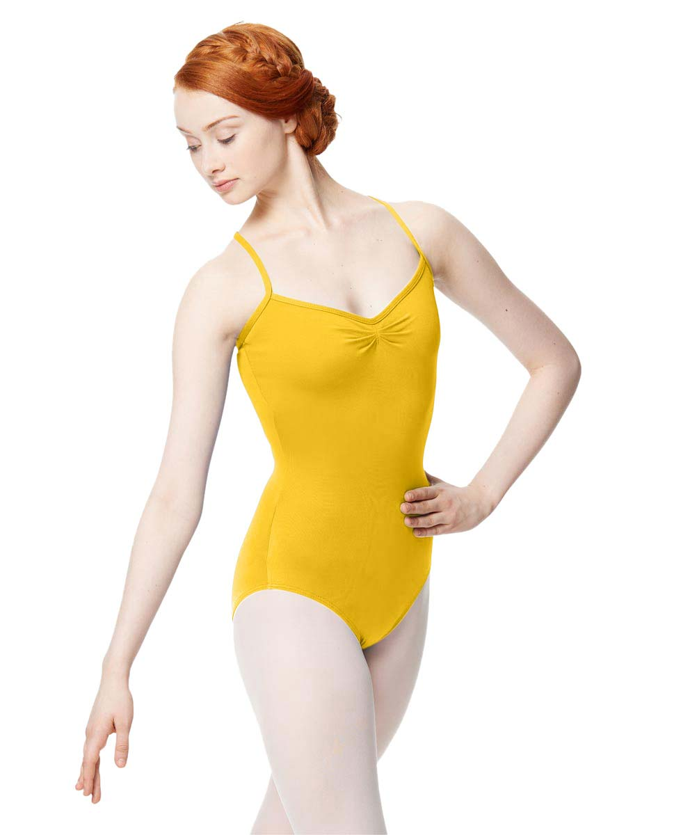 Adult Microfiber Pinched Front Camisole Leotard Alair YEL