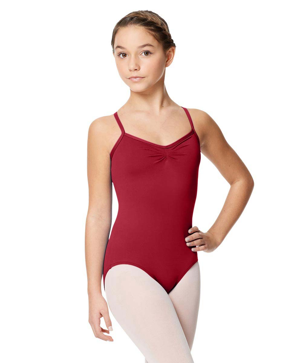 Child Microfiber Pinched Front Camisole Leotard Alair DRED