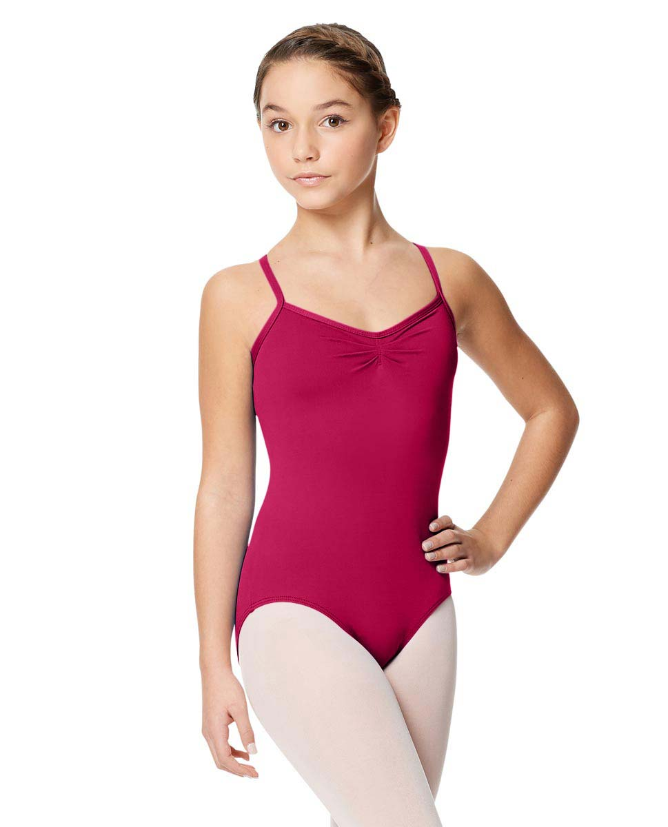 Child Microfiber Pinched Front Camisole Leotard Alair FUC