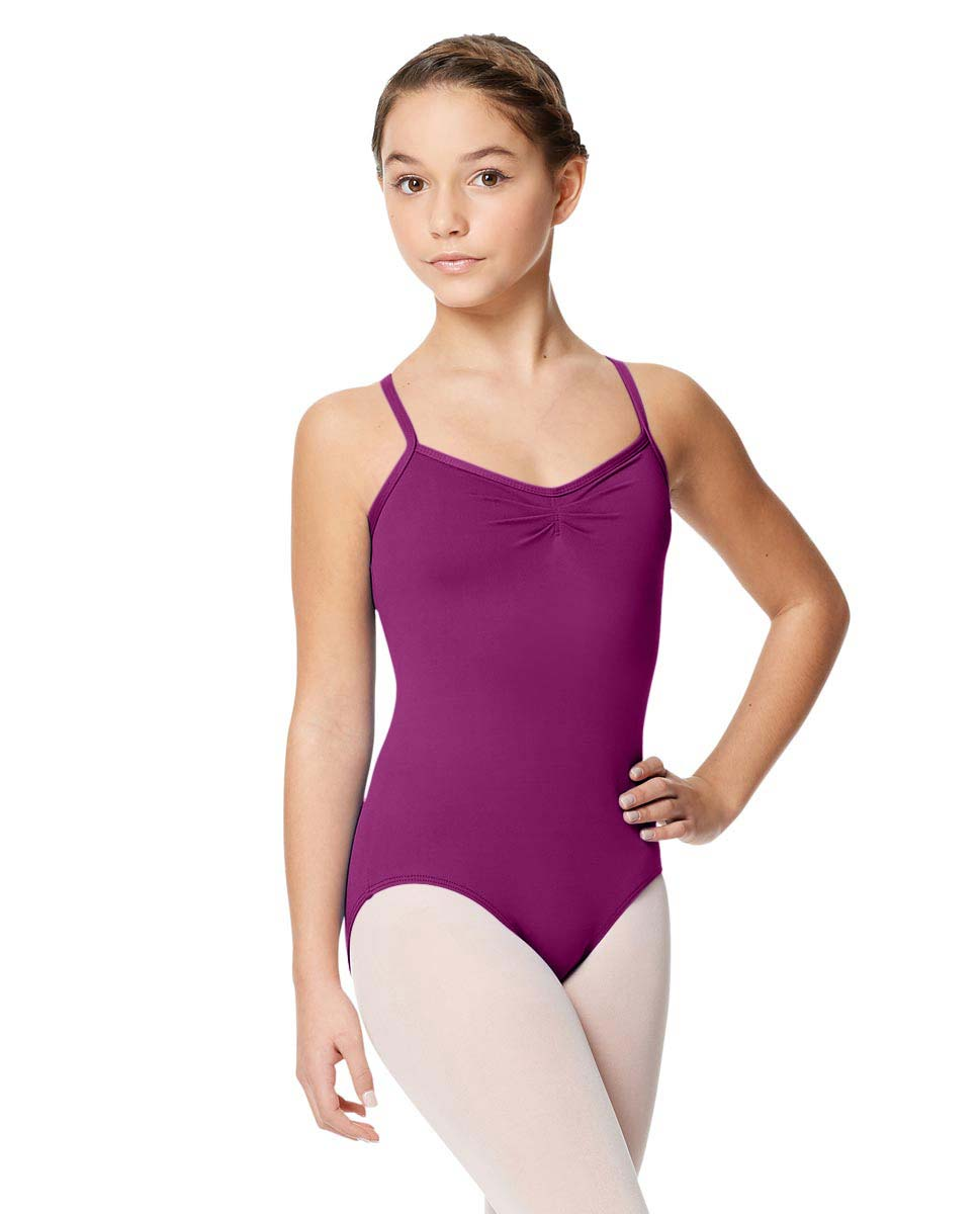 Child Microfiber Pinched Front Camisole Leotard Alair GRAP