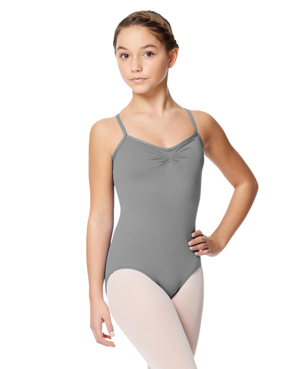 Child Microfiber Pinched Front Camisole Leotard Alair GRE