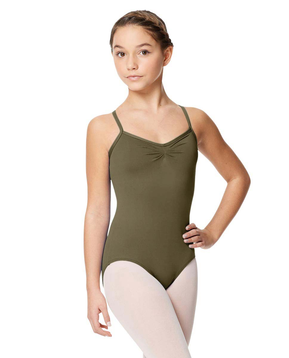 Child Microfiber Pinched Front Camisole Leotard Alair KHA