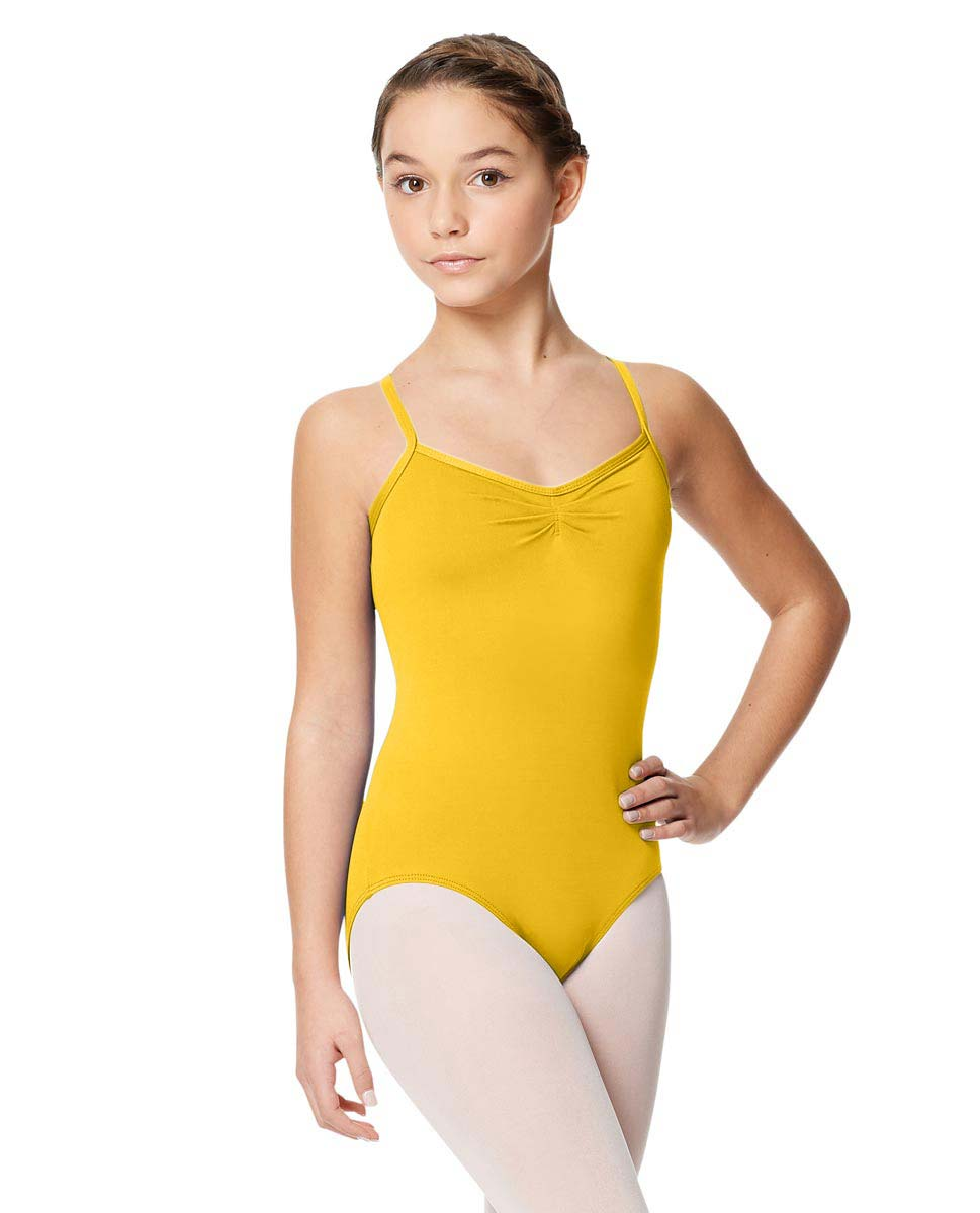 Child Microfiber Pinched Front Camisole Leotard Alair YEL
