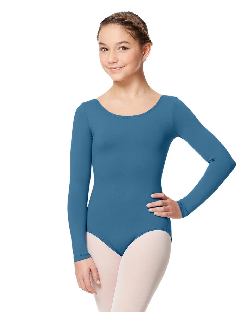 Long Sleeve Girl Dance Leotard Inez BLUE