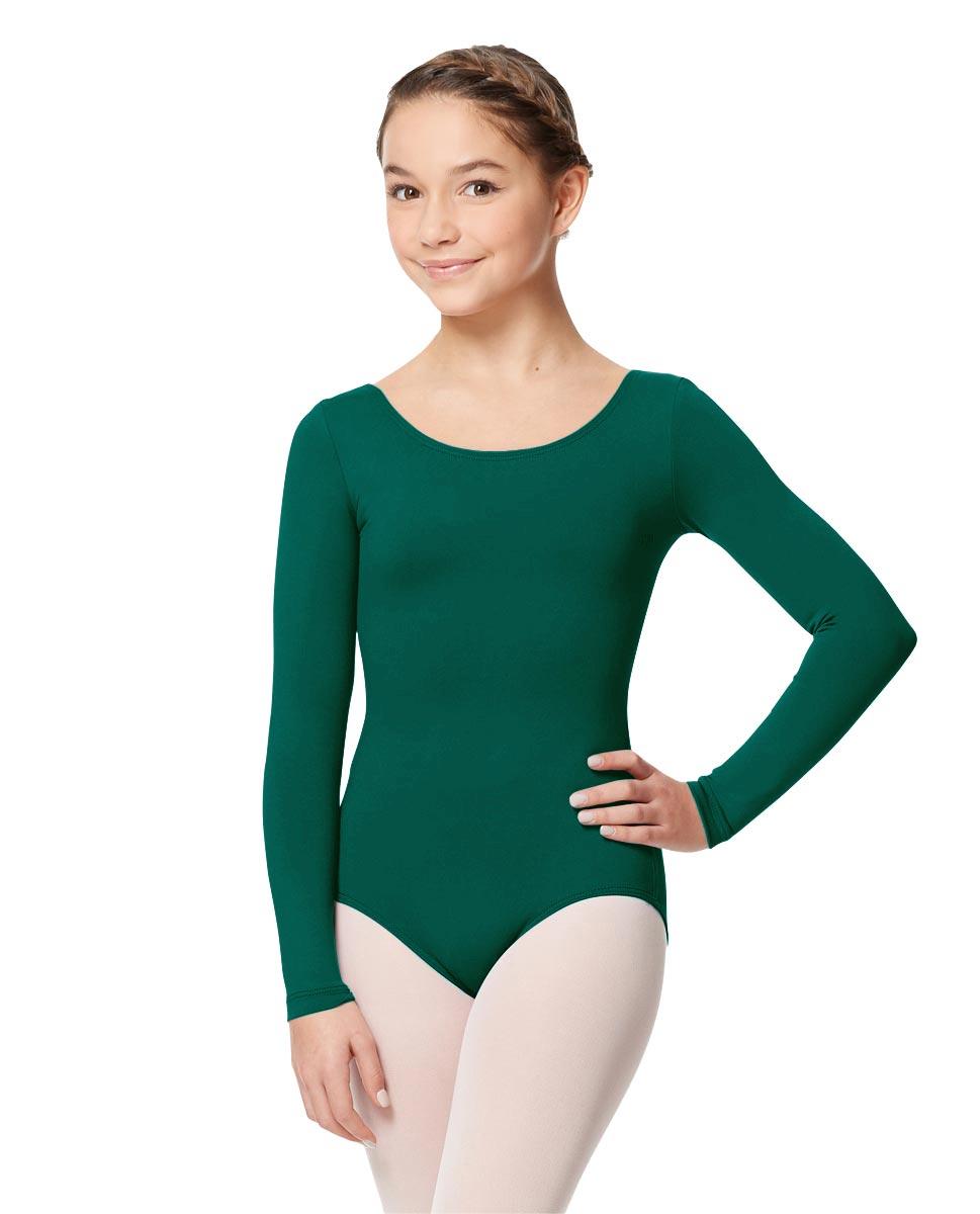Long Sleeve Girl Dance Leotard Inez DGREEN
