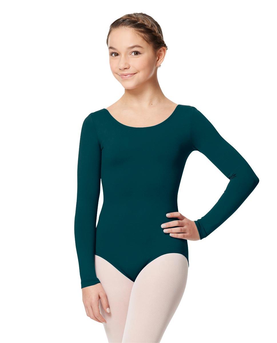 Long Sleeve Girl Dance Leotard Inez DTEAL