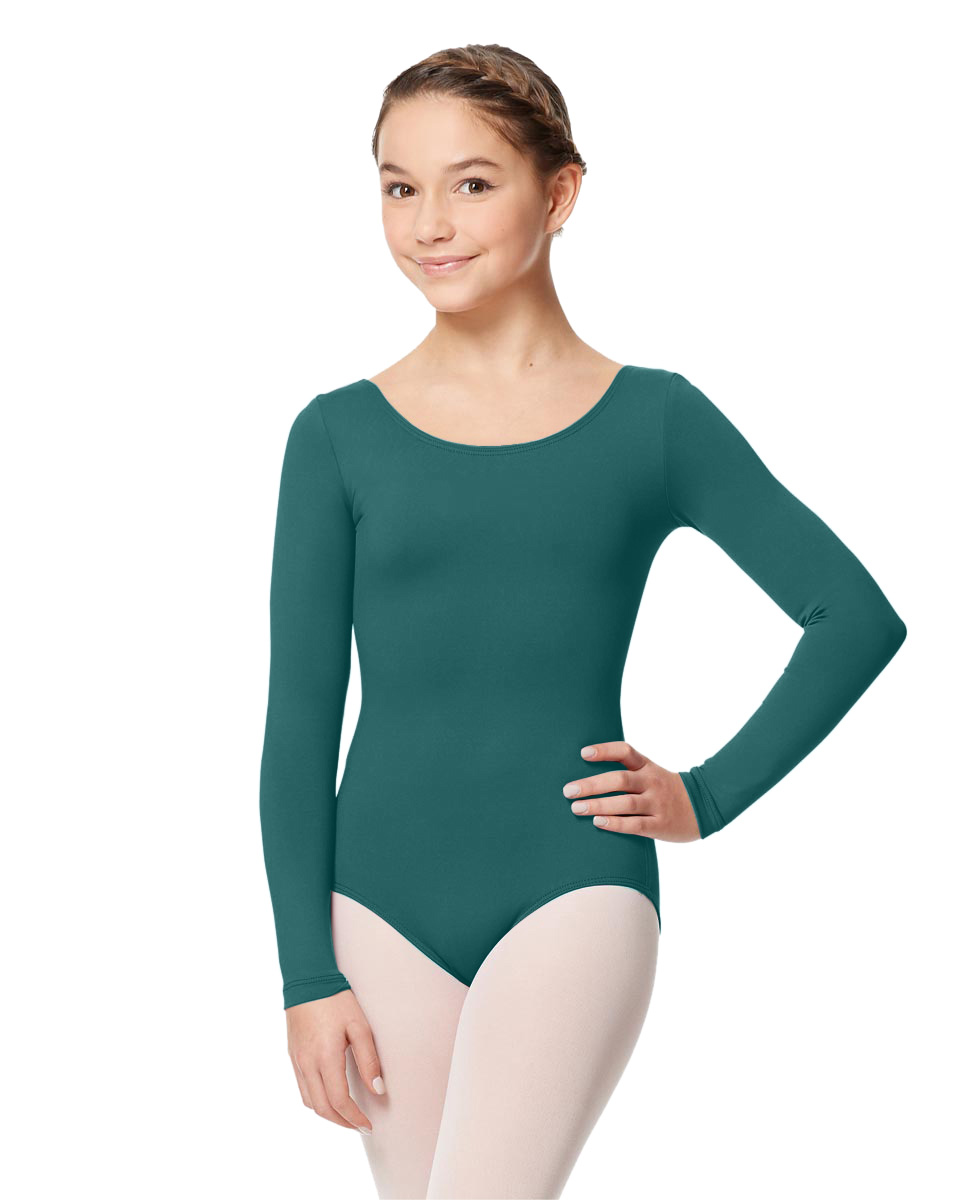 Long Sleeve Girl Dance Leotard Inez TEA