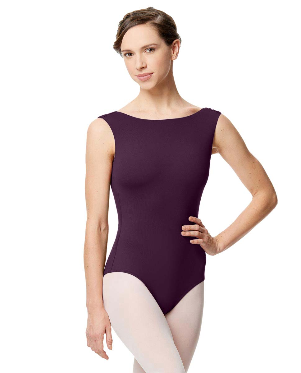Adult Microfiber Low Back Tank Leotard Katia AUB