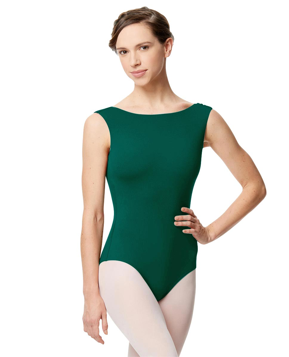 Adult Microfiber Low Back Tank Leotard Katia DGREEN