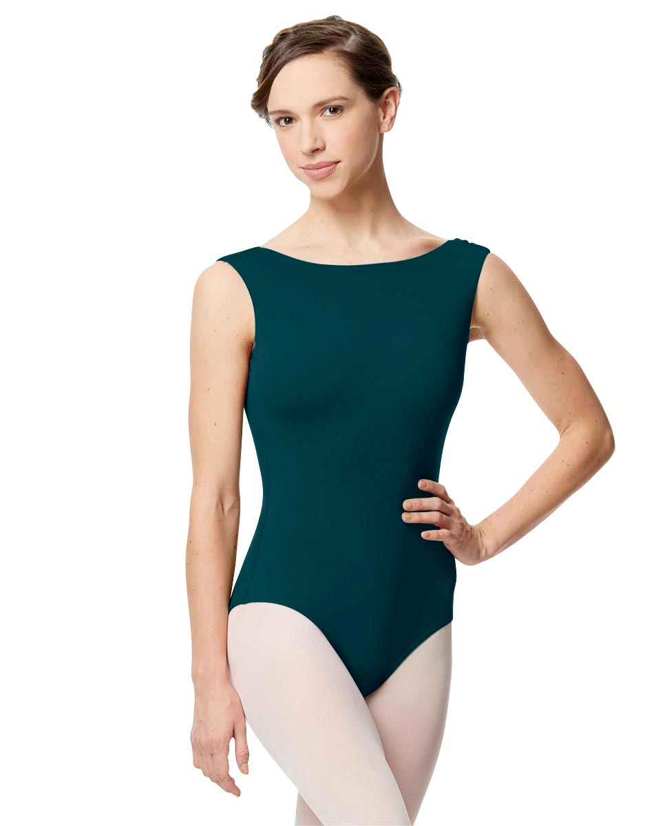Adult Microfiber Low Back Tank Leotard Katia DTEAL