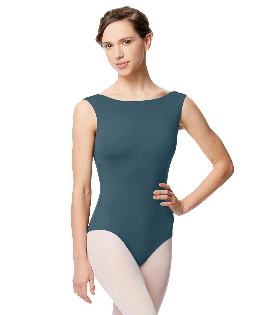 Adult Microfiber Low Back Tank Leotard Katia JEANS