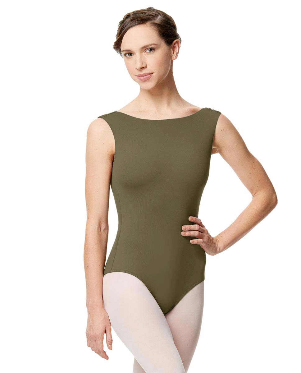 Adult Microfiber Low Back Tank Leotard Katia KHA