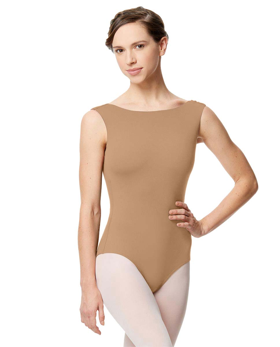 Adult Microfiber Low Back Tank Leotard Katia NUD