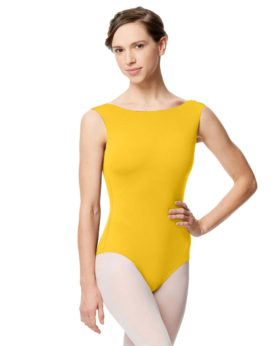 Adult Microfiber Low Back Tank Leotard Katia YEL