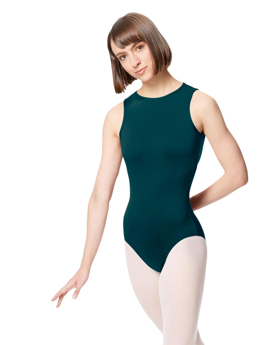 Adult Microfiber Strapy Back Tank Leotard Edonia DTEAL