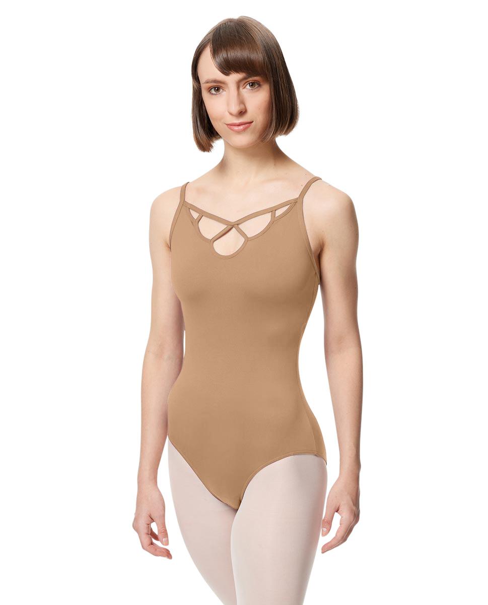 Adult Microfiber Straight Back Camisole Leotard Eleanora NUD