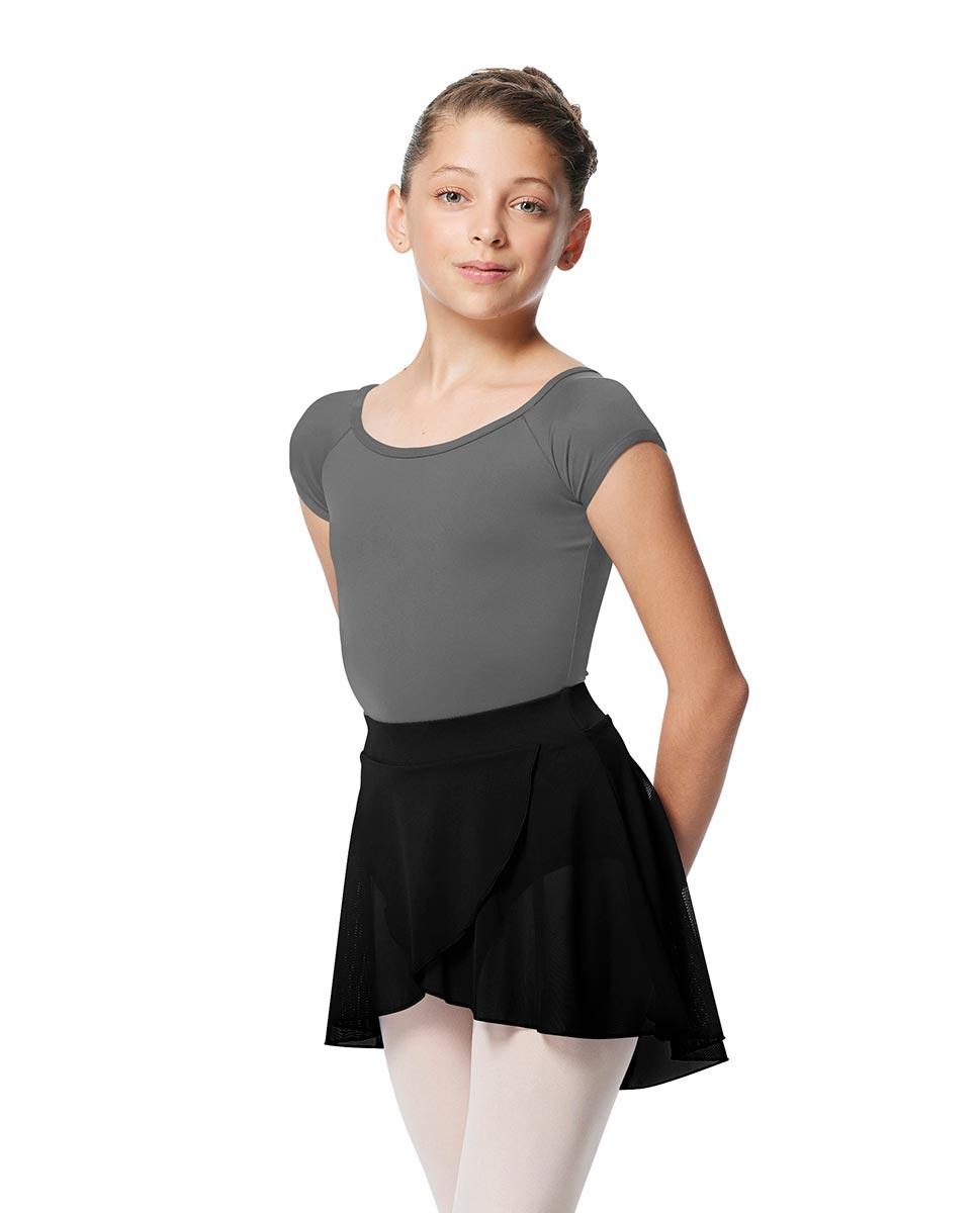 Child Pull on Wrap Dance Skirt Natasha BLK