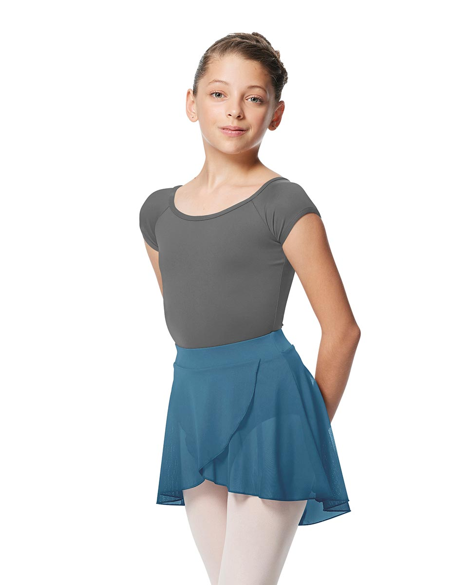 Child Pull on Wrap Dance Skirt Natasha BLUE