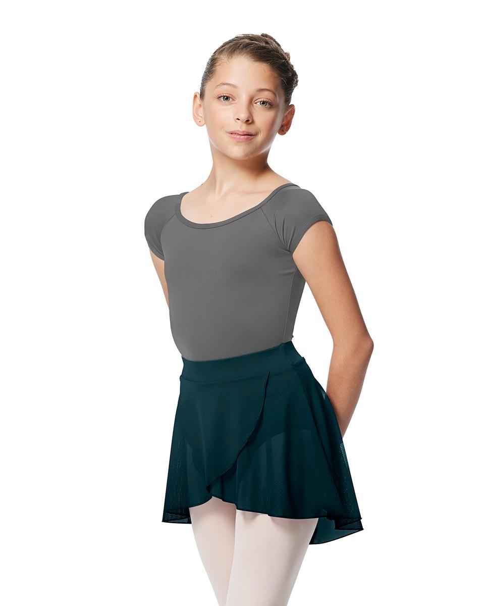 Child Pull on Wrap Dance Skirt Natasha DTEAL
