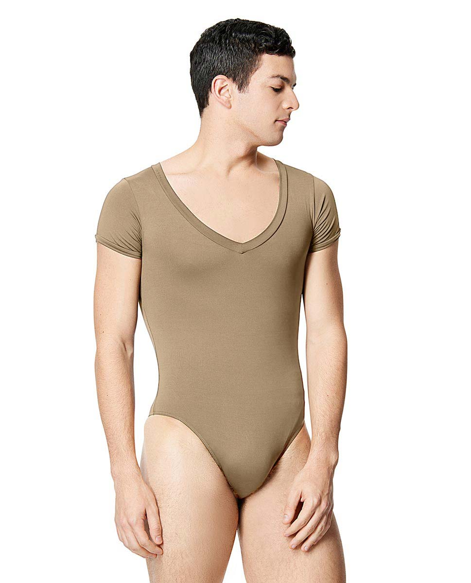 Mens Microfiber Short Sleeve Leotard Ethan NUD