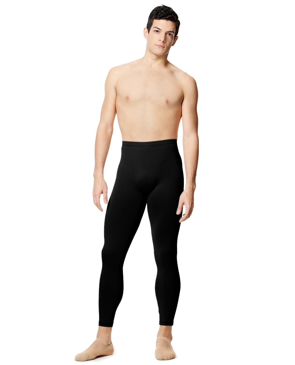 Mens Tactel Dance Leggings Emanual BLK