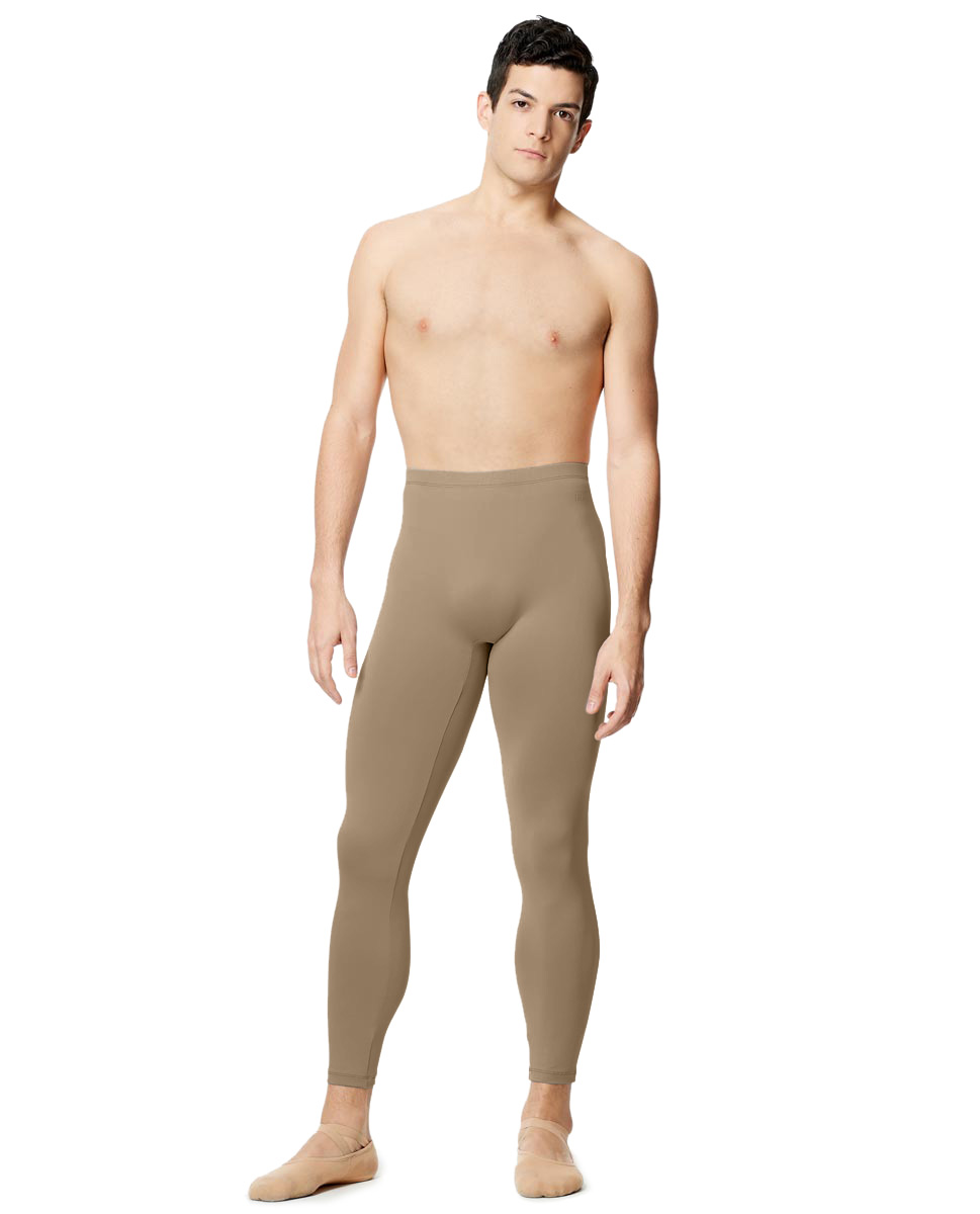 Mens Tactel Dance Leggings Emanual NUD