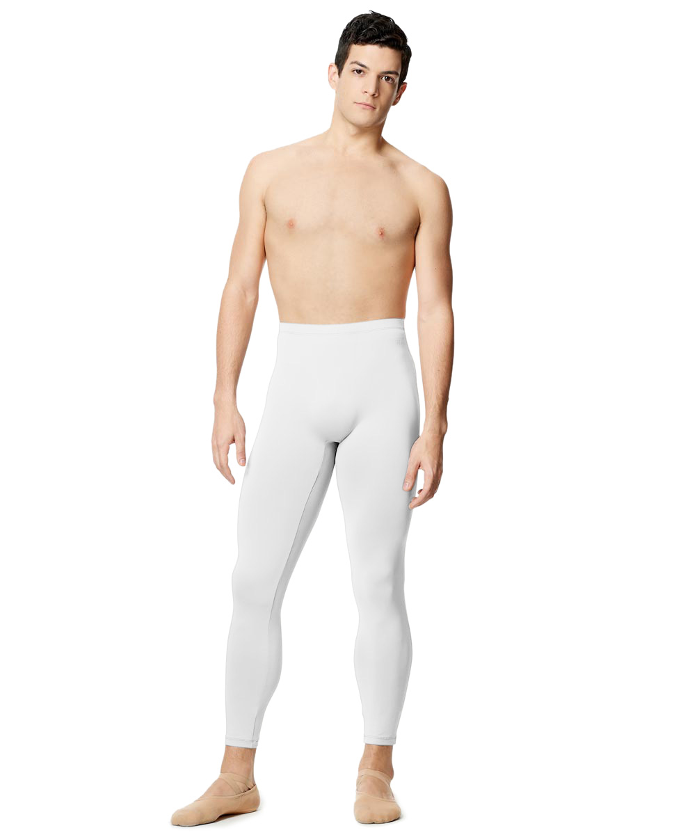 Mens Tactel Dance Leggings Emanual WHI