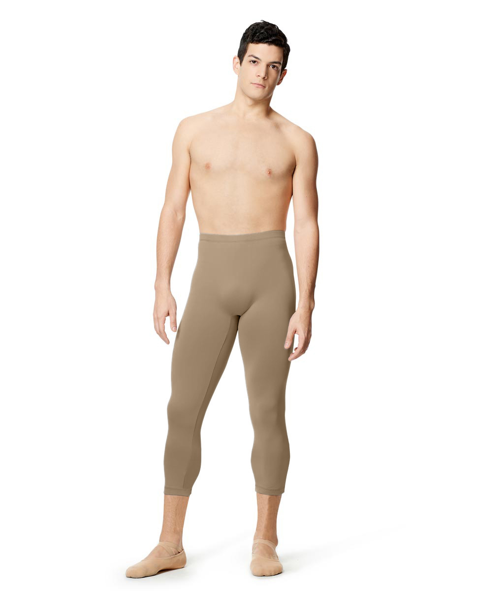 Mens Microfiber Capri Leggings Jerald  NUD