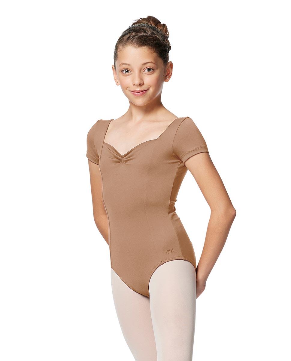 Girls Short Sleeves Ballet Leotard Anfisa NUD