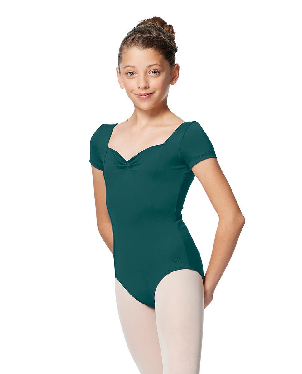 Girls Short Sleeves Ballet Leotard Anfisa TEA