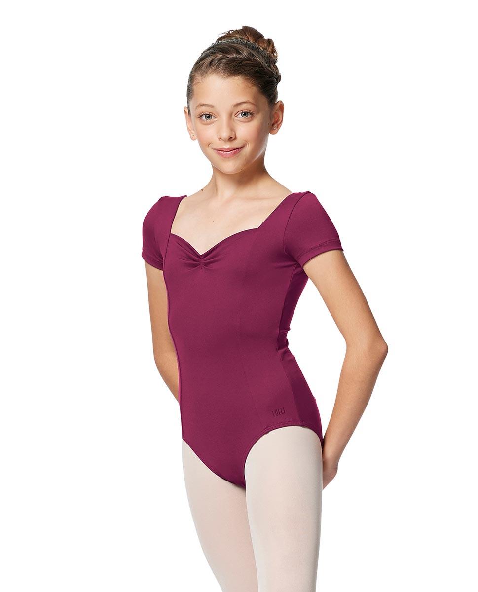 Girls Short Sleeves Ballet Leotard Anfisa WINE