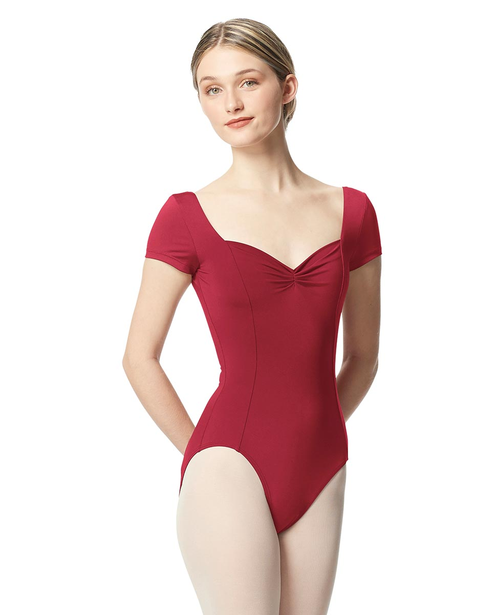 Woman Short Sleeves Leotard Gathered Front Anfisa DRED