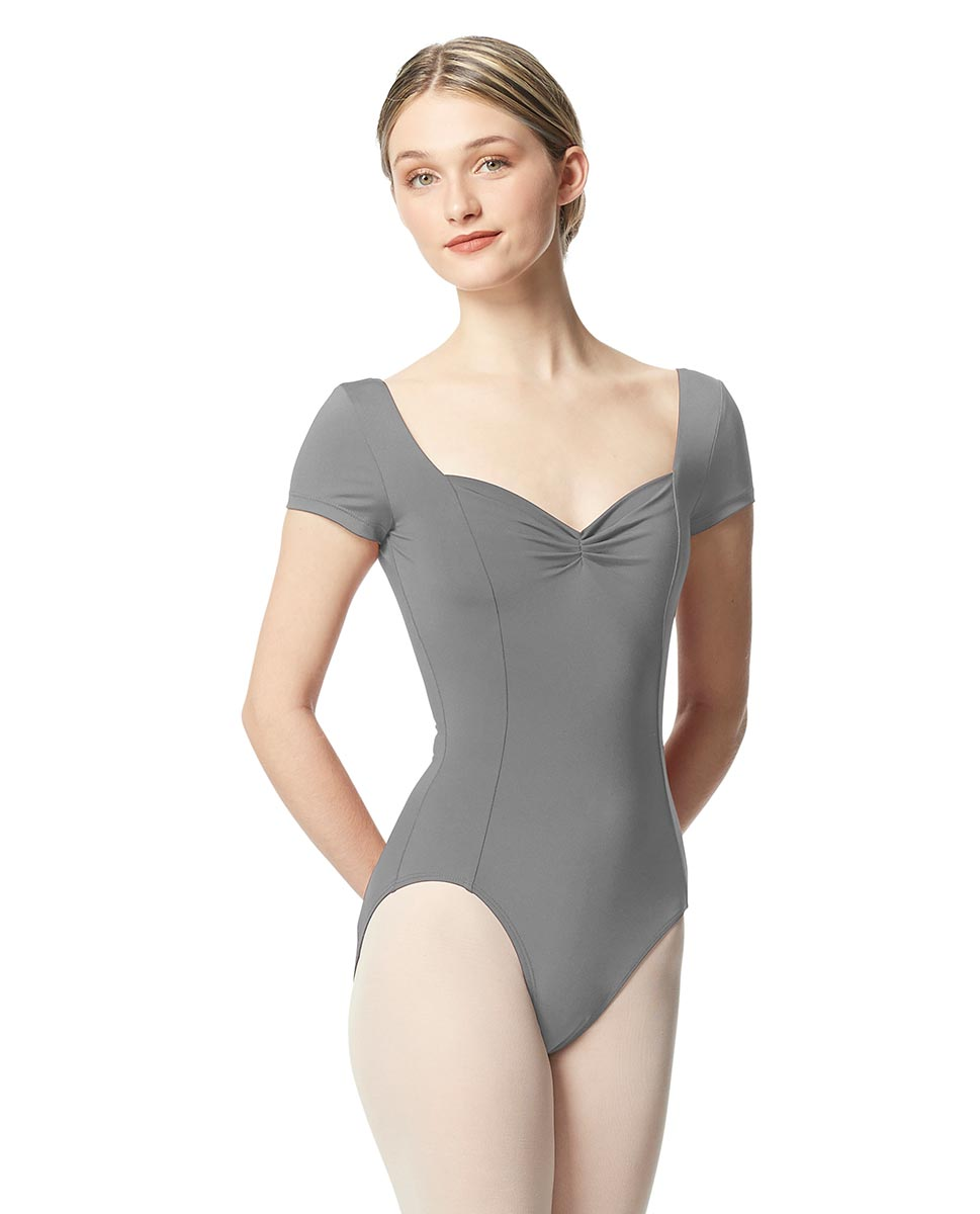 Woman Short Sleeves Leotard Gathered Front Anfisa GRE