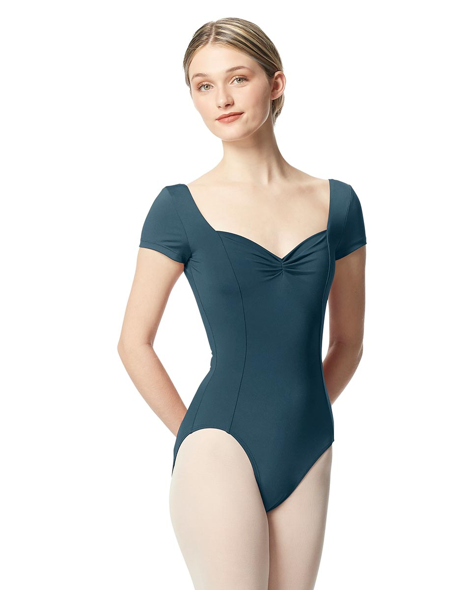 Woman Short Sleeves Leotard Gathered Front Anfisa JEANS